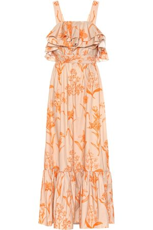JOHANNA ORTIZ Women Maxi Dresses - Tropical Waves cotton maxi dress
