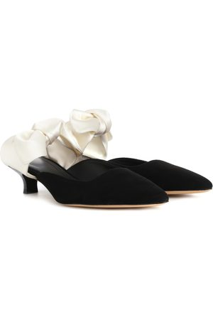 The Row Women Mules - Coco suede and satin mules