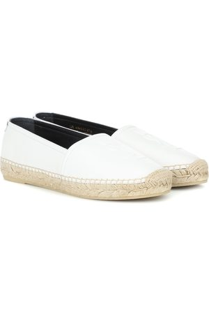 Saint Laurent Monogram leather espadrilles