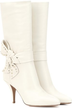 Valentino Rockstud Side Bow leather boots