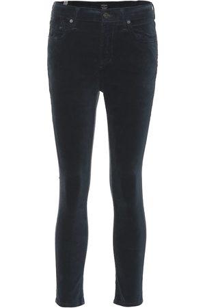 Citizens of Humanity Women Skinny - Rocket Crop velvet jeans