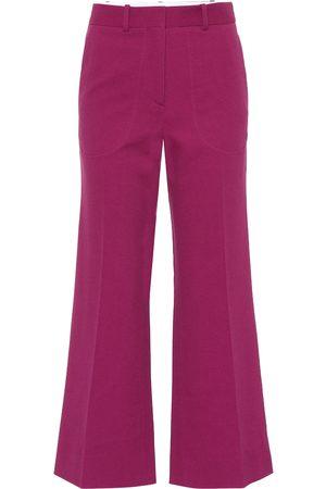 Victoria Beckham Women Wide Leg Pants - Cotton-blend wide-leg pants