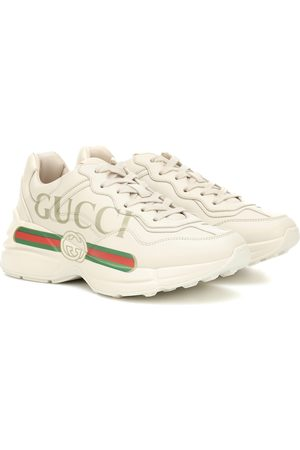 Gucci Women Sneakers - Rhyton leather sneakers
