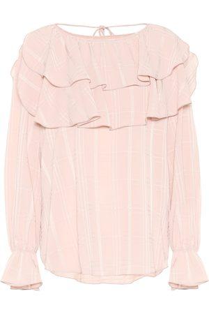 Chloé Jacquard crêpe blouse