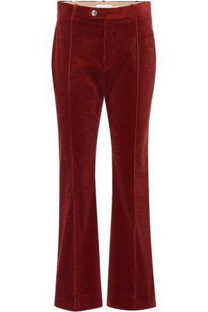 Chloé Mid-rise flared corduroy pants