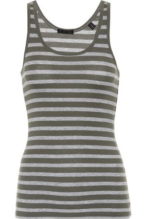 ATM Anthony Thomas Melillo Women Tank Tops - Striped jersey tank top
