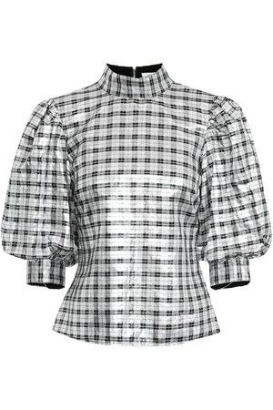 Ganni Lagarde silk-blend blouse