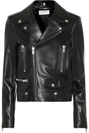 Saint Laurent Women Leather Jackets - Leather biker jacket
