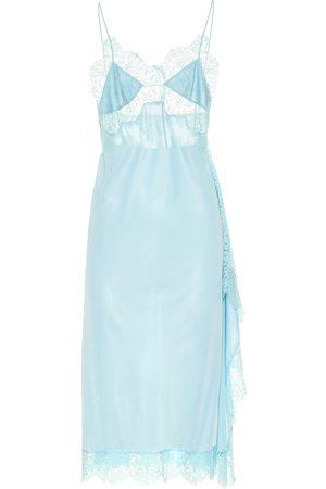 Stella McCartney Women Casual Dresses - Lace-trimmed satin dress