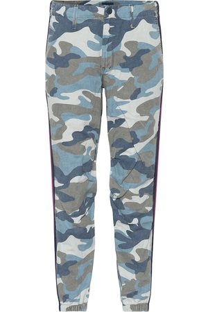 Mother Women Pants - Mid-rise camouflage pants