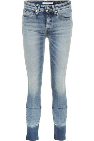 Calvin Klein Cropped mid-rise skinny jeans