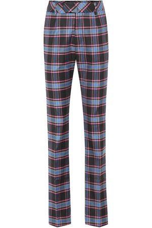 MATTHEW ADAMS DOLAN Women Pants - Checked wool-blend pants