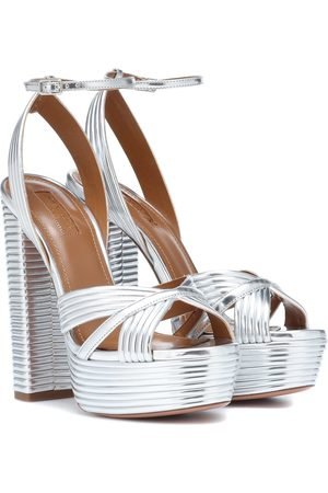 Aquazzura Metallic leather sandals