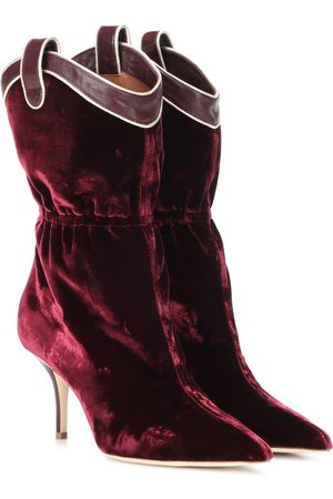 Malone Souliers by Roy Luwolt Daisy velvet ankle boots