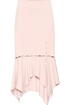 JONATHAN SIMKHAI Embellished crêpe skirt