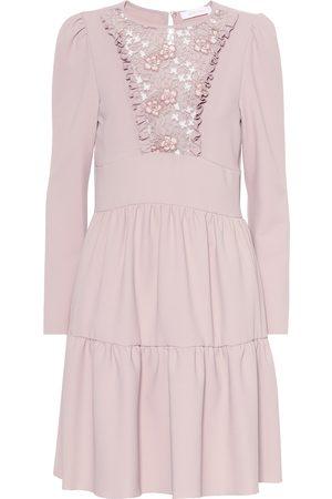 Chloé Floral lace bib dress