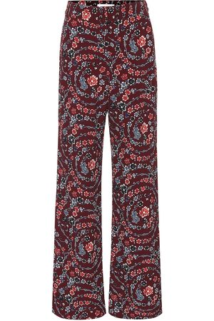 Chloé Floral wide-leg pants