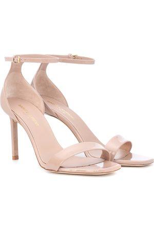 Saint Laurent Amber 85 patent leather sandals