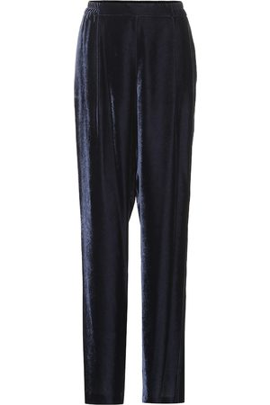 Stella McCartney Velvet wide-leg pants