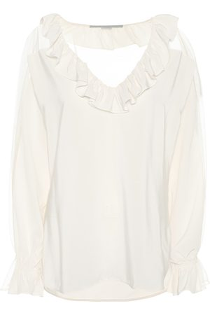Stella McCartney Ruffle-trimmed silk blouse