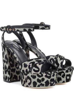 Dolce & Gabbana Leopard plateau sandals