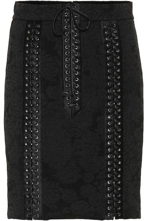 Dolce & Gabbana Lace-up silk jacquard skirt