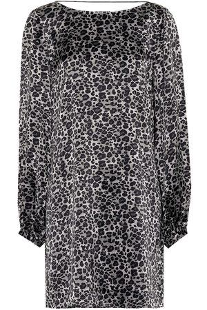 Equipment Leopard silk tunic dress