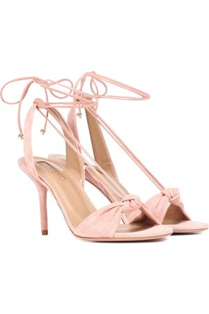 Aquazzura Women Sandals - Virginie 85 suede sandals