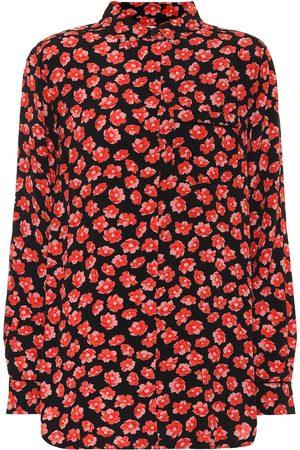 Ganni Floral crêpe shirt