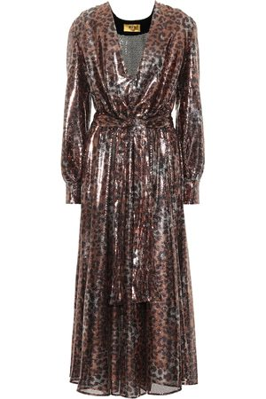 Msgm Sequined leopard midi dress