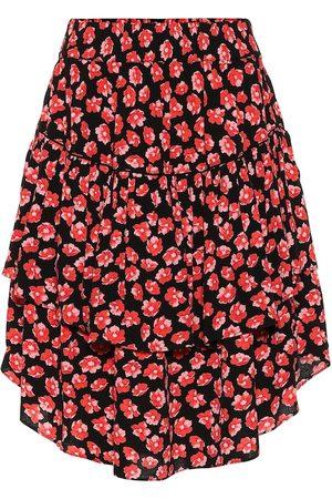 Ganni Floral crêpe skirt