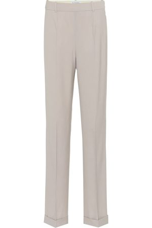 Altuzarra High-rise wide-leg wool-blend pants