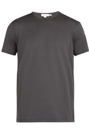 Sunspel Men T-shirts - Pima Cotton-jersey T-shirt - Mens - Dark Grey