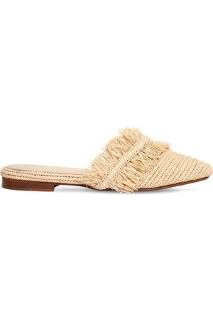 ZYNE 10mm Raffy Fringed Raffia Mules