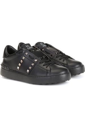 VALENTINO GARAVANI Rockstud Untitled Noir leather sneakers