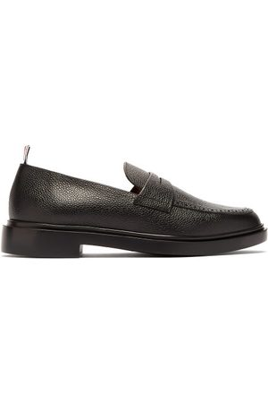 Thom Browne Men Loafers - Textured-leather Penny Loafers - Mens