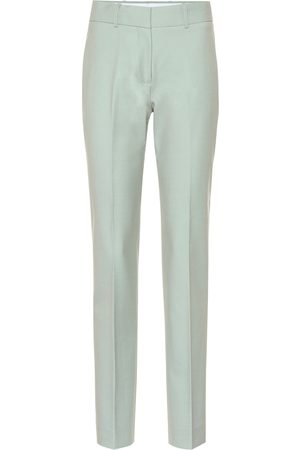 Victoria Victoria Beckham Mid-rise straight wool-blend pants