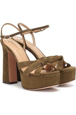 Aquazzura Baba Plateau 125 suede sandals