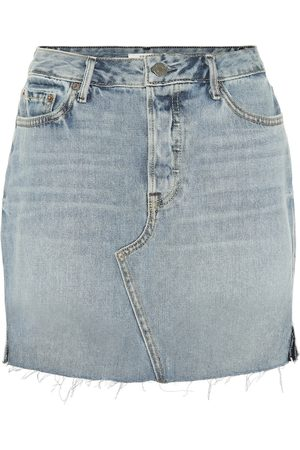 GRLFRND Blaire high-waisted denim miniskirt