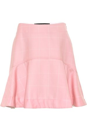 Calvin Klein Checked wool miniskirt