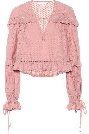 JONATHAN SIMKHAI Broderie anglaise cotton blouse