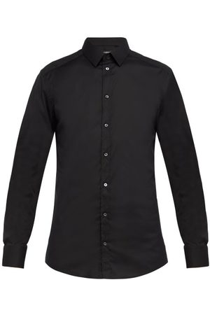 Dolce & Gabbana Gold Fit Cotton Blend Poplin Shirt - Mens