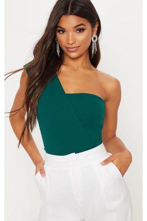 PRETTYLITTLETHING Emerald One Shoulder Bodysuit