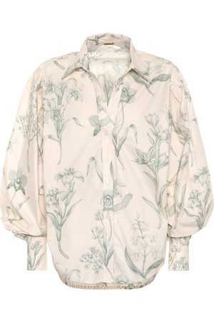 JOHANNA ORTIZ Green Leaving cotton poplin shirt