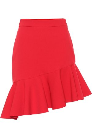 Msgm Stretch-crêpe asymmetric miniskirt
