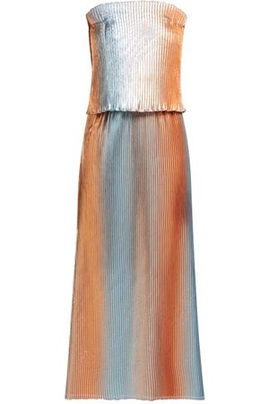 Carl Kapp Prism Pleated Lamé Gown - Womens - Multi