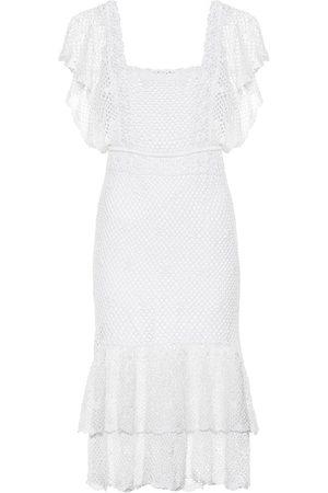 ANNA KOSTUROVA Florence crochet midi dress