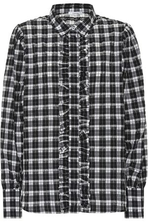 Ganni Seersucker Check shirt