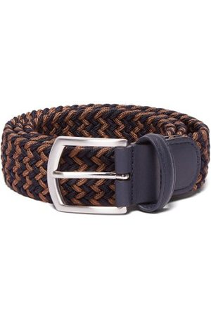 Anderson's Men Belts - Woven Elasticated Belt - Mens - Navy/dk Olive