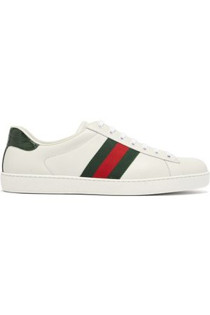 Gucci Men Sneakers - Ace Leather Trainers - Mens - Multi